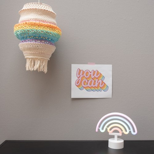Yarn and Colors Rainbow Lamp Crochet Kit 2 Pastel