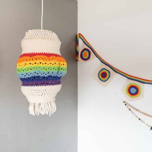 Yarn and Colors Rainbow Lamp Crochet Kit 1 Colorful