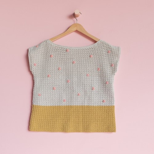 Yarn and Colors 'Baby You Look Fabulous' Top Crochet Kit L 1 Birch