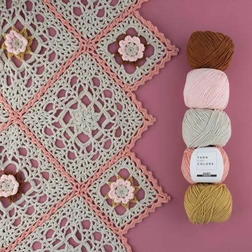 Yarn and Colors Romantic Throw Crochet Kit 2 Birch