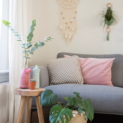 Home-Deco Bobble Cushion Crochet Kit 1 Scandinavian