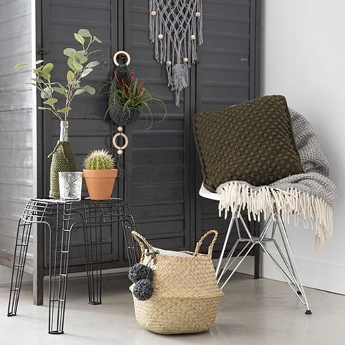 Home-Deco Bobble Cushion Crochet Kit 3 Industrial