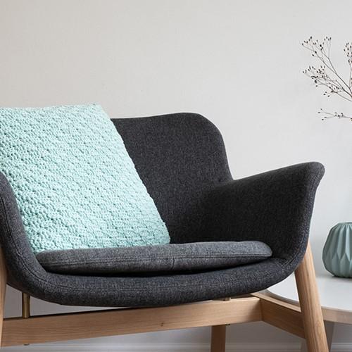 Yarn and Colors Basket Weave Comfy Cushion Crochet Kit 073 Jade Gravel