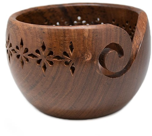 Durable Wooden Yarn Bowl Lace