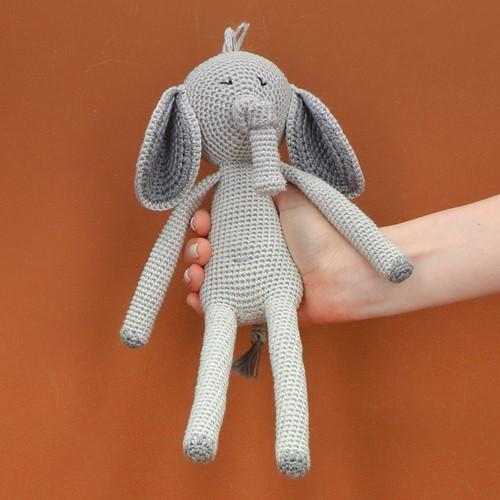 Crochet Pattern Yarn and Colors Eddie Elephant