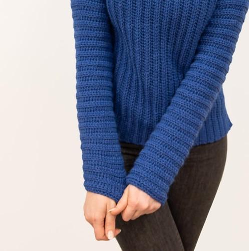 Crochet Pattern Elegant Brunch Time Sweater