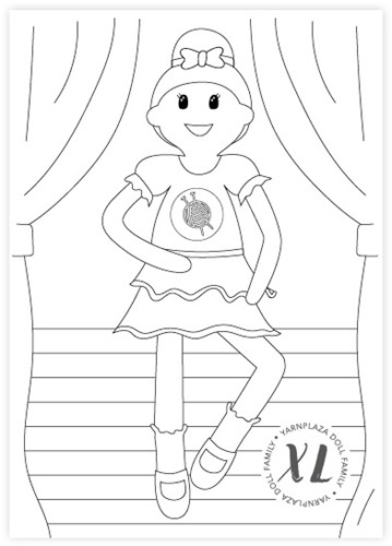 Coloring Page Yarnplaza XL Doll - Ballerina Sofie