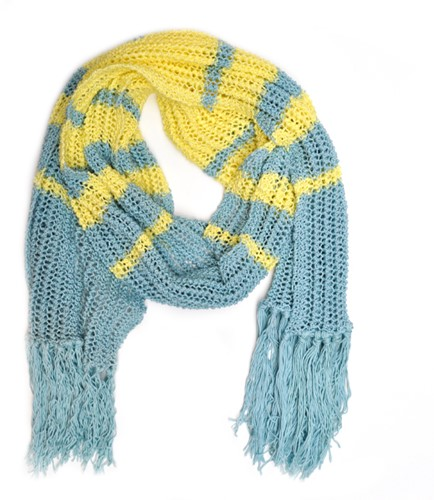 Knitting Pattern Essentials Cotton Summer Scarf