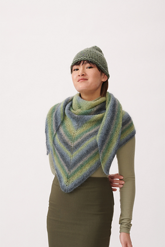 Essentials Super Kid Mohair Loves Silk Print Shawl Knitting Kit 2