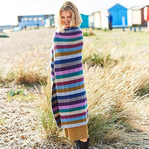 Knitting Pattern Stylecraft Highland Heathers DK No. F086 Stripey Blanket
