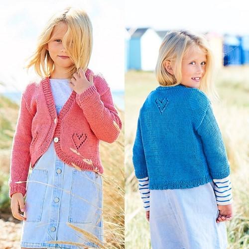Knitting Pattern Stylecraft Naturals - Organic Cotton DK No. F088 Girls' Cardigans