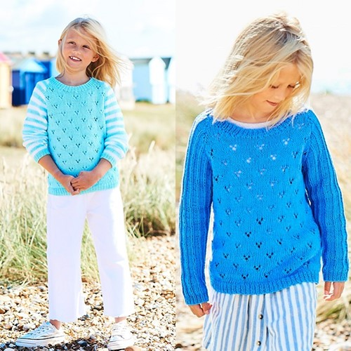 Knitting Pattern Stylecraft Naturals - Organic Cotton DK No. F089 Girls' Tops