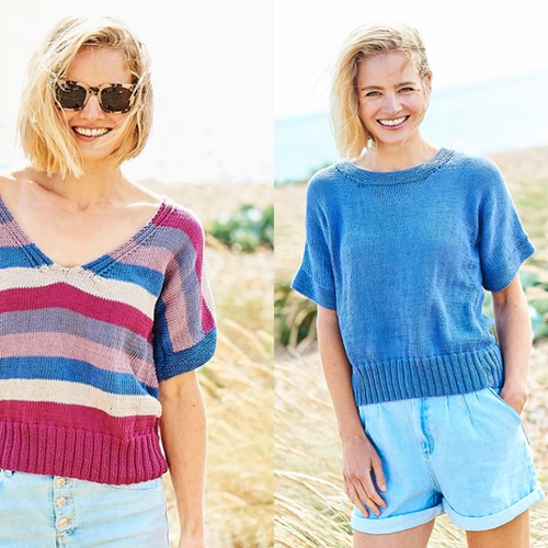 Knitting Pattern Stylecraft Naturals - Organic Cotton DK No. F090 Tops