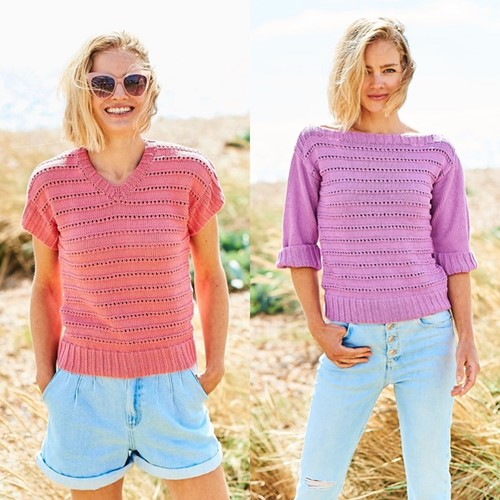 Knitting Pattern Stylecraft Naturals - Organic Cotton DK No. F091 Tops