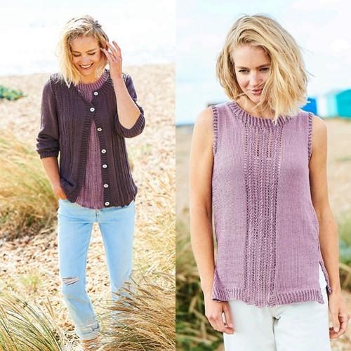 Knitting Pattern Stylecraft Naturals - Organic Cotton DK No. F092 Twinset