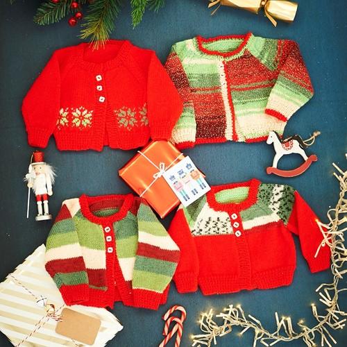 Knitting Pattern Stylecraft Head Over Heels Festive Cardigans No. F101