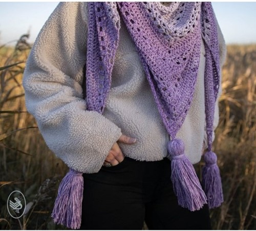 Crochet Pattern Cosy Fine Faded Shawl