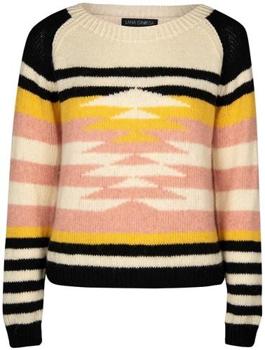 Knitting Pattern Ecopuno Graphic Raglan Sweater