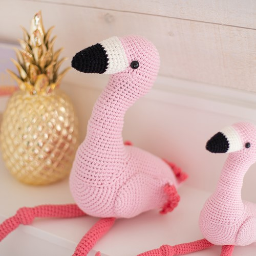 Crochet Pattern Mixed Up Flamingo