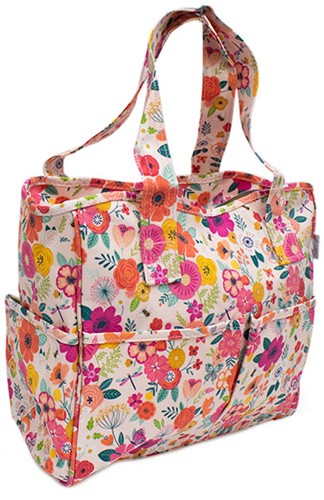 Craft Bag Floral Garden Pink