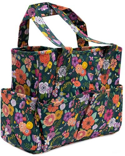 Craft Bag Floral Garden Teal