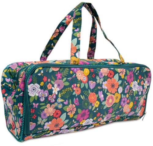 Knitting Bag Floral Garden Teal