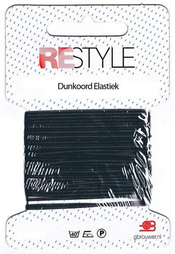 Restyle Dunkoord Elastiek 4m/1,4mm Zwart
