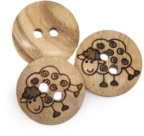 Drops Button Sheep 15 mm