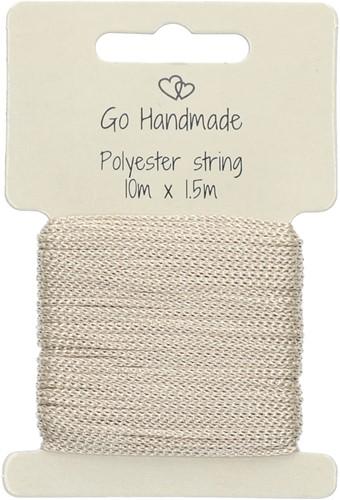 Go Handmade Polyester String 2 Beige