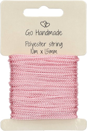 Go Handmade Polyester String 4 Pink