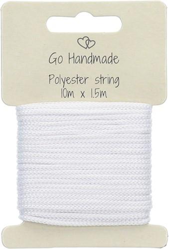 Go Handmade Polyester String 6 White