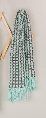 Yarn and Colors Fringed Scarf Crochet Kit 073 Jade Gravel