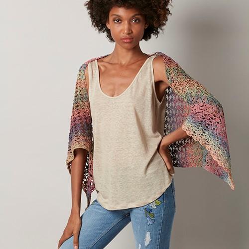 Funny Rainbow Shrug Crochet Kit