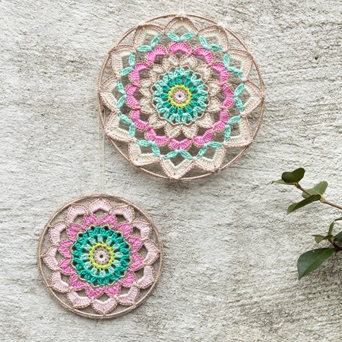 Crochet Pattern Yarn and Colors Garden Party Mandala