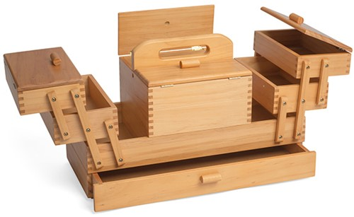 Sewing Box Wood Cantilever S 4-tier
