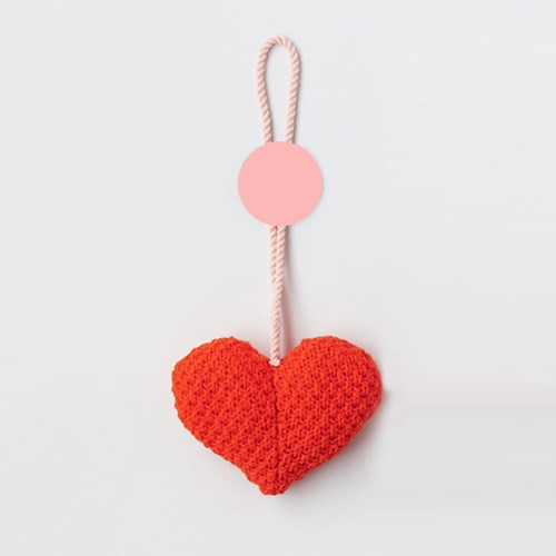 Pattern knitted heart