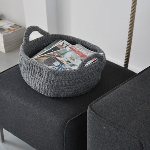 Pattern crocheted basket