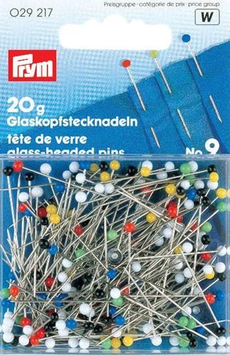 Prym Glass-headed pins No.9