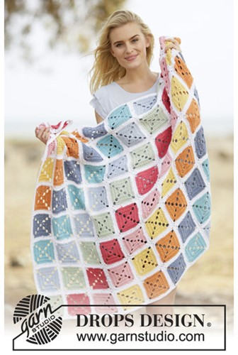 Crochet pattern Granny pastel blanket