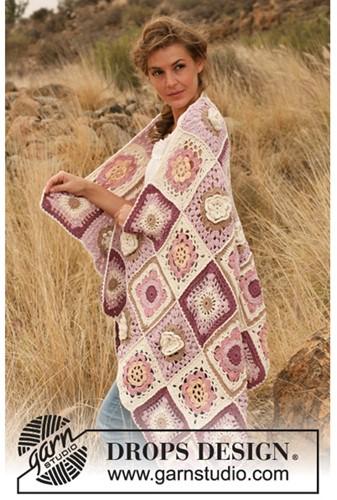 Crochet pattern Granny floral blanket