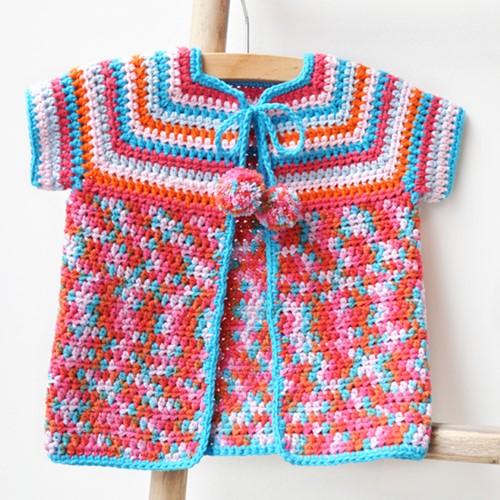 Crochet pattern baby cardigan for summer