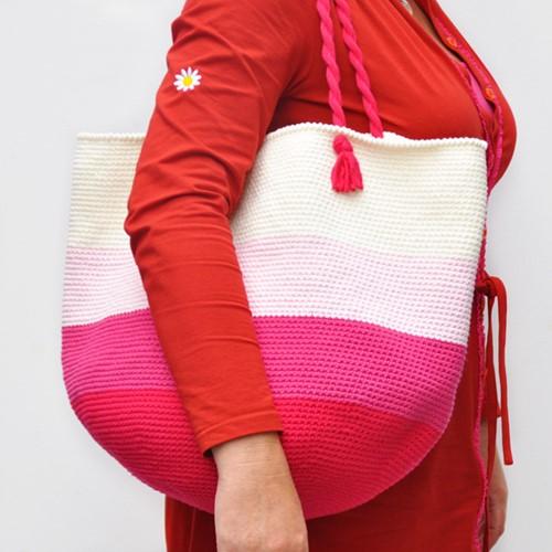 Crochet pattern Cotton Mix 80 beach bag