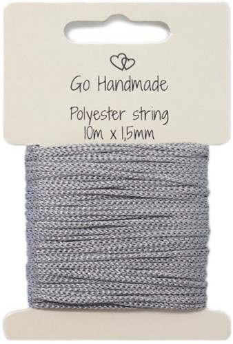 Polyester String 3 Grey