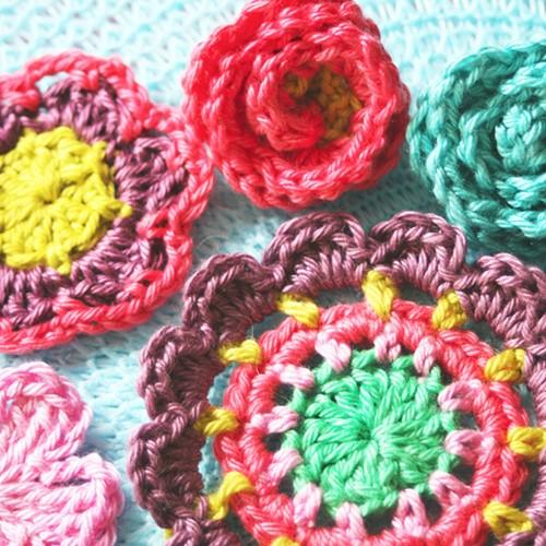 Crochet pattern flowers galore
