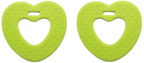 Teether Rings Heart 81 Kiwi Green