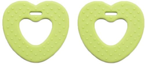 Teether Rings Heart 82 Light Green