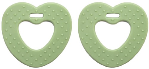 Teether Rings Heart 80 Pastel Green