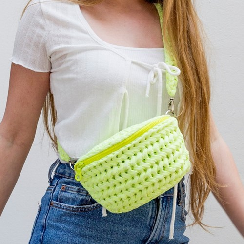 Crochet Pattern RibbonXL Neon Bum Bag Indio