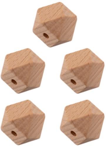 Durable Wooden Hexagon Beads 5 pieces 20mm