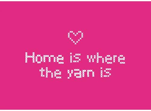 Yarnplaza Postcard - Home is where the yarn is